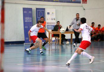 مباراة كرة قدم لطلاب برنامج منح التعليم الأردني/السوري