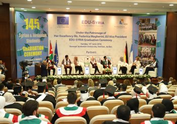 The EU HRVP Federica Mogherini attends EDU-SYRIA Graduation Ceremony