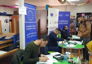EDU-SYRIA information sessions at Al-Za'atari and Al-Azraq Camps