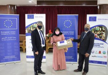EDU-SYRIA / EDU-JORDAN  Distributes 221 Laptops for its Students at Zarqa University